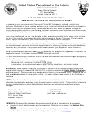 Nps Form - Application Requirements For A Commercial Filming/still Photography Permit - United States Department Of The Interior