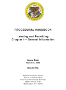Procedural Handbook - Leasing And Permitting Chapter 1 - General Information - Department Of The Interior Bureau Of Indian Affairs - 2006