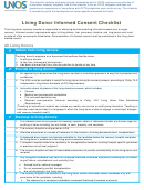 Living Donor Informed Consent Checklist