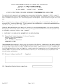 Application To Self-insure Workers' Compensation Liabilities - South Dakota Department Of Labor And Regulation