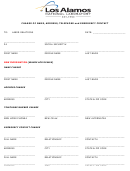 Change Of Name, Address, Telephone And Emergency Contact Form - Los Alamos National Laboratory