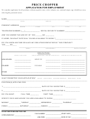 Price Chopper - Application For Employment