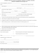 Form Mmb-00375-07 - Affidavit For Collection Of Personal Property For Small Estates