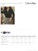 Calvin Klein - Women's Pure Finish Cotton Shirt Size Chart