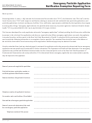 Form Doh-4212 - Emergency Pesticide Application Notification Exemption Reporting Form - New York State Department Of Health