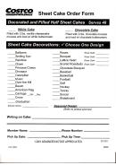 Form Ba01 - Sheet Cake Order Form - Costco