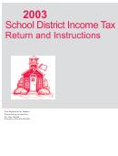 Form Sd-40p - School District Income Tax Payment Voucher - 2003