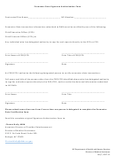 Encounter Data Signature Authorization Form - Nc Department Of Health And Human Services