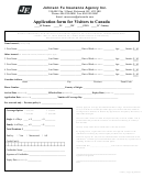 Application Form For Visitors To Canada
