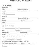 Arkansas Boat Bill Of Sale Form