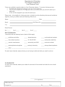Tutor Request Form - Department Of Chemistry 5.12 Organic Chemistry I