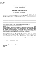Form Ml-7 - Branch Authorization Form - Kentucky Department Of Financial Institutions