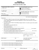 Form Cc-6 - Application For Public Funds