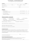 Pratt Usd 382 - Student Medical Form