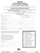 District Dues Payment For Local Ptas And Ptsas Form - 2016-2017