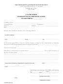 Claim For Refund Of Premium Taxes - South Dakota Division Of Insurance Form
