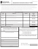 Form Mv-511b - Requisition For Motor Vehicle Forms