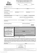 Form Dhs-1377 - Direct Deposit Authorization Form