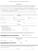 Application For Non-school Bus Vehicles
