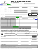 Request For New Grant Account And Budget