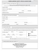 Form Mcsa-1576 - Mcmis Company Safety Profile