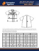 Mechanic Shirt Size Chart