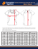 Women Performance Specific Run Top Size Chart