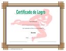 Certificado De Logro En Karate Template
