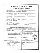License Application Form - City Of Fairhope, Alabama
