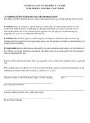 Authorization For Release Of Information - United States District Court - Northern District Of Ohio Form