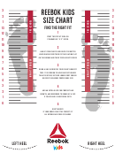 Reebok Kids Size Chart