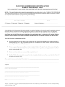 Election Commission Certification Public Accuracy Test Form