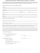 Continuing Education Self-study Activity Form