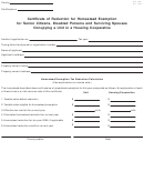 Form Dte 106e - Certificate Of Reduction For Homestead Exemption For Senior Citizens, Disabled Persons And Surviving Spouses Occupying A Unit In A Housing Cooperative