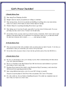 Prom Checklist Template