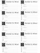 Enter To Win Event Ticket Template