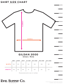 Evil Supply Co. Shirt Size Chart