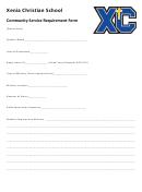 Community Service Requirement Form