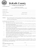 Homeoccupation Supplementalregistrationform - Dekalbcounty