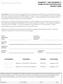 Form Des-029 - Segment 1 And Segment 2 Completion Certificates Order Form