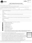 Montana Form Qec - Qualified Endowment Credit - 2007