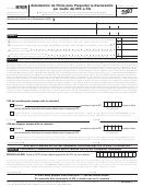 Formulario 8879(sp) - Autorizacion De Firma Para Presentar La Declaracion Por Medio Del Irs E-file - 2007