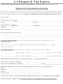 Request Form For Passport/visa Processing