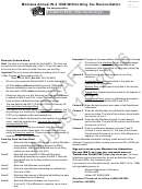Form Mw-3 Draft - Montana Annual W-2 1099 Withholding Tax Reconciliation - 2016