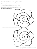 Flower Greeting Card Template
