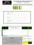 Auto Store Invoice Template