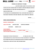Vehicle Deposit Form