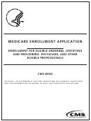 Form Cms-8550 - Medicare Enrollment Application