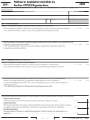 California Form 3509 - Political Or Legislative Activities By Section 23701d Organizations - 2011