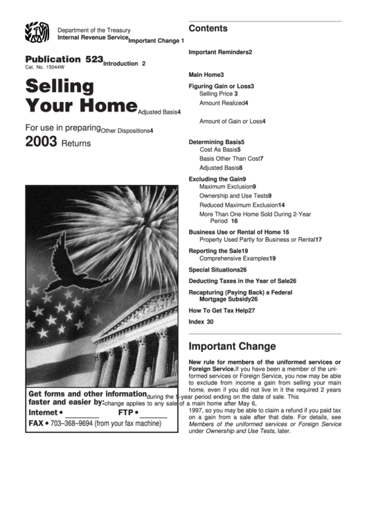Irs Publication Selling Rental Property